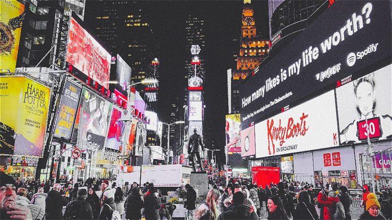 Si vous avez vraiment beaucoup d'argent, vous pouvez avoir un billboard à NewYork !